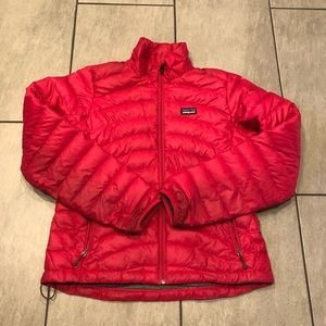 Patagonia Womens Down Jacket Raspberry Pink Medium